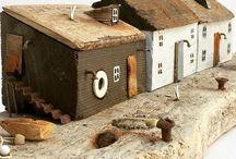 Fa házak kézzel