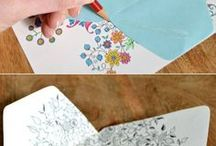 Using coloring pages