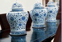 Home Decor: Blue and White / Blue and White accessories, home decor, porcelain, oriental / by Debra Conway