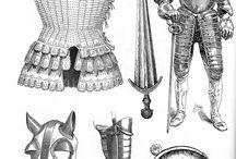 kreslené zbroje