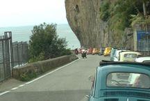 Vintage Tour on Amalfi Coast / Discover the wonderful secret places of the Amalfi Coast on board an original #Fiat500
