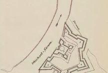 Twierdza Wisłoujście - dawne mapy