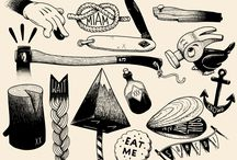 Illustration for tattoo