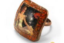 #ROUGE - RED / Accessoires et bijoux triés par couleur : Rouge, bordeaux, cerise, vermillon...  / by Artesa Créations