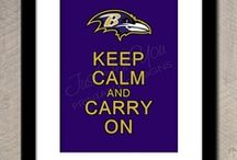 Baltimore ravens decor / by Laura Ray