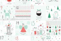 nálepky na adventní kalendář