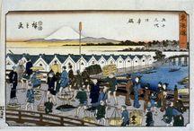 (Jp-Edo-print-Hiroshige) 浮世絵・東海道五十三次・魚・鳥 広重 / 広重/ 東海道五十三次 版画