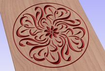 Vector file (eps) for V-bit cnc wood carving / Vector file for cnc V-bit carving (digital file). This file can be applied to any program CNC like Artcam and Vectric Aspire.