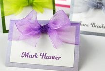 Wedding Place Cards / Luxury handmade wedding place cards...