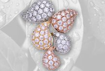 SUMMER RAIN COLLECTION - COLLEZIONE PIOGGIA D'ESTATE / Diamonds alternances over white, pink and yellow gold settings is refreshing like a mild summer rain.  Discover the collection @ Salvadori Diamond Atelier > http://bit.ly/Summerrain