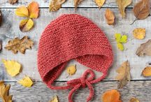 Autumn knits / Knitting inspiration in autumn colours. Fall knitting projects. Baby Knits for Autumn.