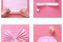 i miei fiori di carta e stoffa