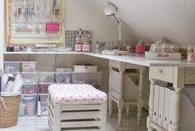 Ideas for attic craft room
