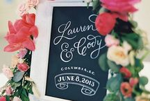 Wedding Trends: Hand Lettering / Wedding details and inspiration featuring all things with beautiful Calligraphy and Hand Lettering!