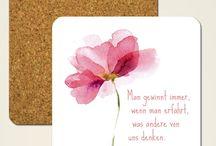 Zitate von Goethe wunderschön bedruckt / Bedruckte Produkte mit schönen und geistreiche Zitaten von Johann Wolfgang von Goethe