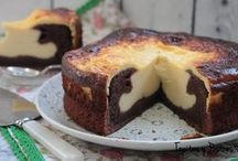 Browni y tarta queso