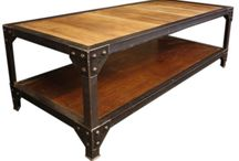 Wood coffee tables and steel