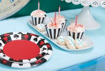 Alice in Wonderland Party Ideas / Down the rabbit hole and through the looking glass, straight to Wonderland we go! If you're pressed for time and nearly late for a very important date, you'd be mad as a hatter not to trust Birthday Express to help you plan your little one's Alice in Wonderland themed birthday party. Our array of colorful black, white and red party supplies resemble a deck of cards, featuring hearts, clubs, spades and diamonds, and are accented with hints of light blue, just like Alice's iconic dress!