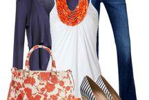 Fab Color Combos - Orange & Navy