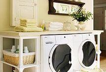 Laundry + bathroom