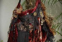 bohemian gypsy handmade  velvet
