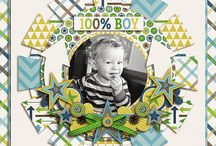 Boy scrapbook page