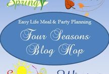 Four Seasons Blog Hop / A Blog Hop where you can share food creations, gardening, clever projects, tablescapes, decorations, party themes, and inspirational knowledge .