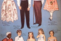 Paper Dolls: A long ago childhood pastime & pleasure / I love paper dolls!  They were some of my favorite playthings as a child.  I have since collected a few special ones. / by Joanne Ellis