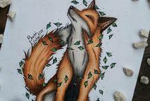 rysunki jesień