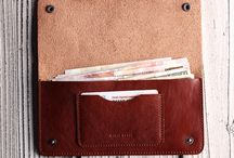 Long and slim wallets / Womens and mens wallets. Long, slim, compact wallets, holders, organizers made of genuine leather.