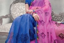 Simple Prints / If you are looking for daily wear printed casual sarees @ cheap prices, then your search ends here. Check out the simple & sober collection of super net printed casual sarees from http://www.mishreesaree.com/Online/New-Arrivals/Latest-Sarees