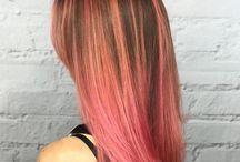 Pink brown hair