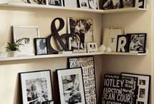 ON THE WALL / Some of my favorite ideas for creating photo walls... / by Di Van Poppelen