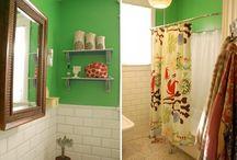 bathrooms. laundry rooms. / keepin' it clean. ha.