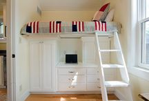 small space living kids rooms / by Kristen Best