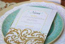 Wedding menu.