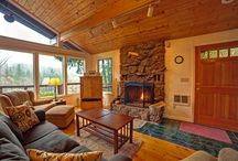 Fireplaces in Mt Hood Vacation Rentals / Everyone loves cozying up to a warm fireplace while on vacation at Mt Hood. http://www.mthoodrentals.com/wood-fireplaces-rentals