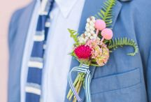 Flower Pins - For Groomsmen and Guests