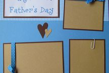 First Father's Day scrapbook page
