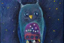Volná tvorba / Vkládám obrázky kreslené, malované či kombinované... po nocích tvořené.