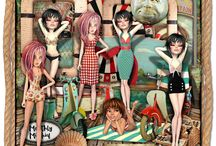 Mischief Circus - Monthly Mischief / The designers at Mischief Circus have a 'Monthly Mash-up' when we are restricted to a limited colour palette and theme, so all the elements co-ordinate...FUN!!