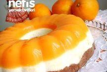 portakallı 3 renkli irmik tatlısı