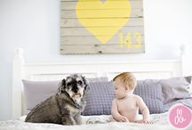 "Keep the dog (and the kid)!  / We hear so many stories of families giving up their pets because they had children and are now ""too busy"" to keep the dog.  But we're advocating NOT doing that - look how many GREAT photos you'll miss out on!"