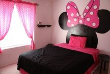 Minnie Mouse bedroom / by Bill Ladika