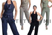 Overall tuta intera tutina bustino abito donna miniabito jumpsuit pantaloni Vs21