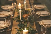Christmas Table Decor / Eclectic ways to set up your table for a relaxed Christmas party