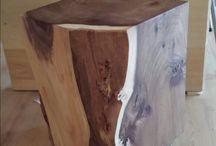 Eikenhouten decoratie meubels