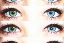 different colored eyes