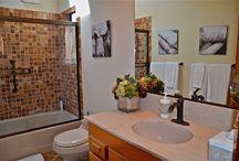 Bathrooms at Abalone Bay / Bathroom and amenities in Abalone Bay  http://www.searanchabalonebay.com/