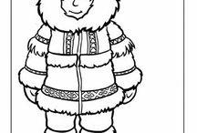 severní pól-Eskymáci